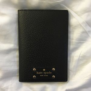 Kate Spade Black Leather Passport Holder